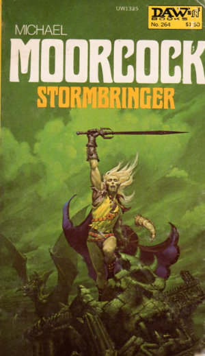 Stormbringer by Michael Moorcock. This edition DAW Books, 1977